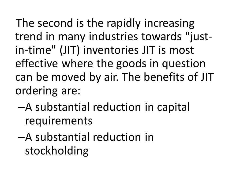 A substantial reduction in capital requirements