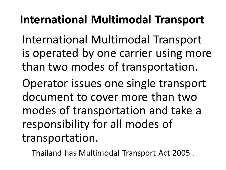 International Multimodal Transport