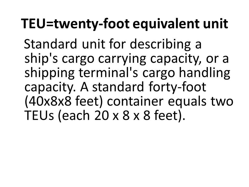 TEU=twenty-foot equivalent unit