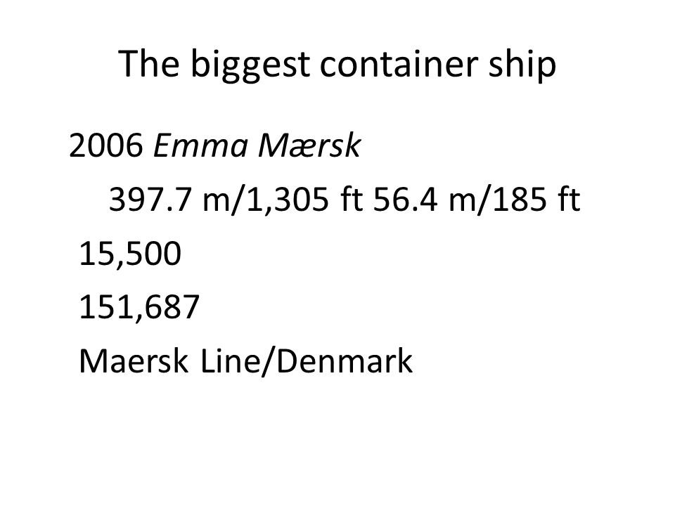 The biggest container ship