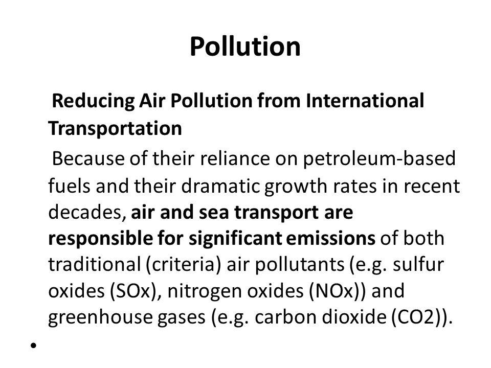 Pollution Reducing Air Pollution from International Transportation