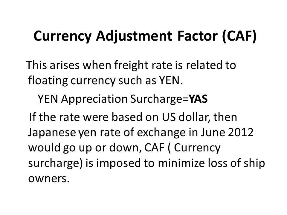 Currency Adjustment Factor (CAF)
