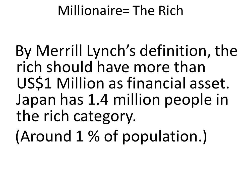 Millionaire= The Rich