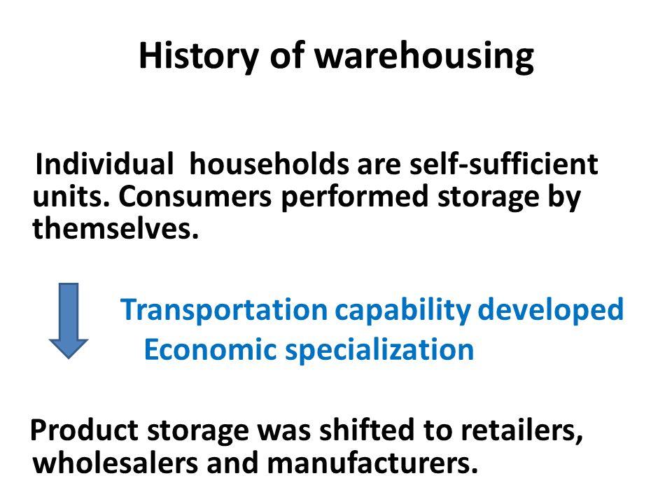 History of warehousing