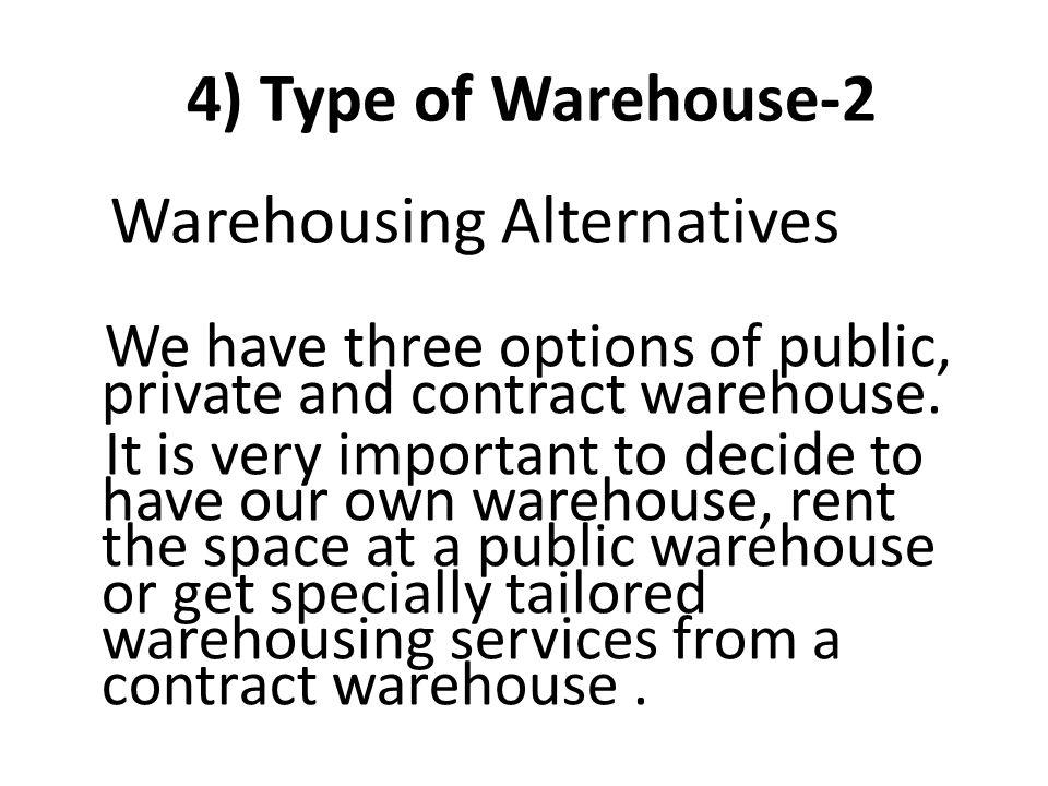 Warehousing Alternatives