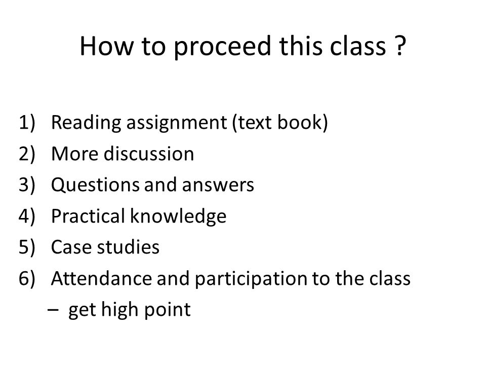 How to proceed this class