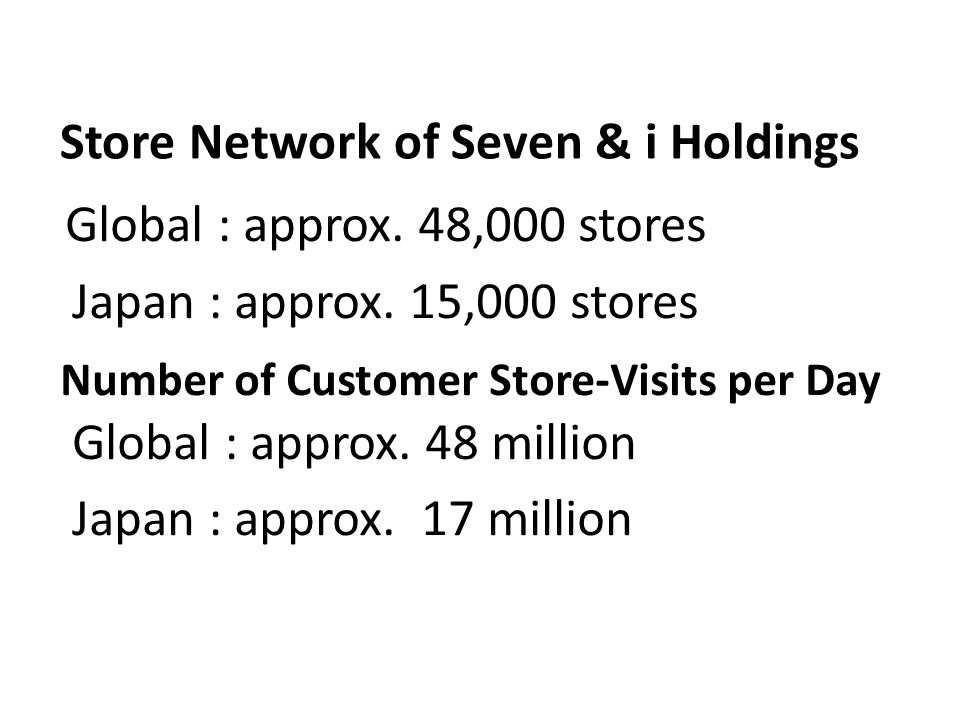 Store Network of Seven & i Holdings