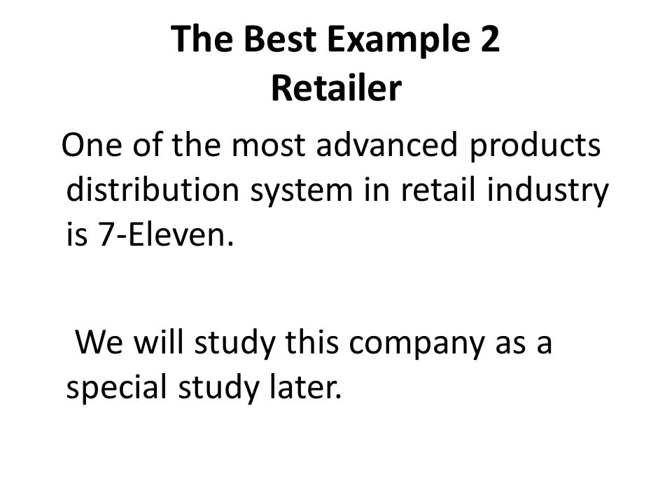 The Best Example 2 Retailer