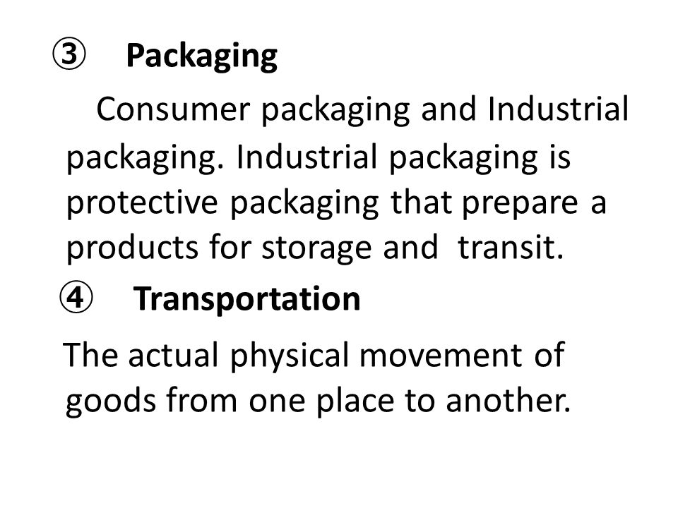 The actual physical movement of goods from one place to another.