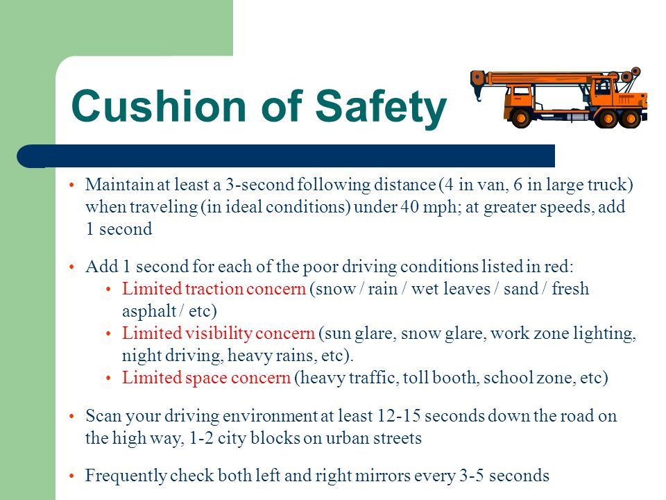 Cushion of Safety