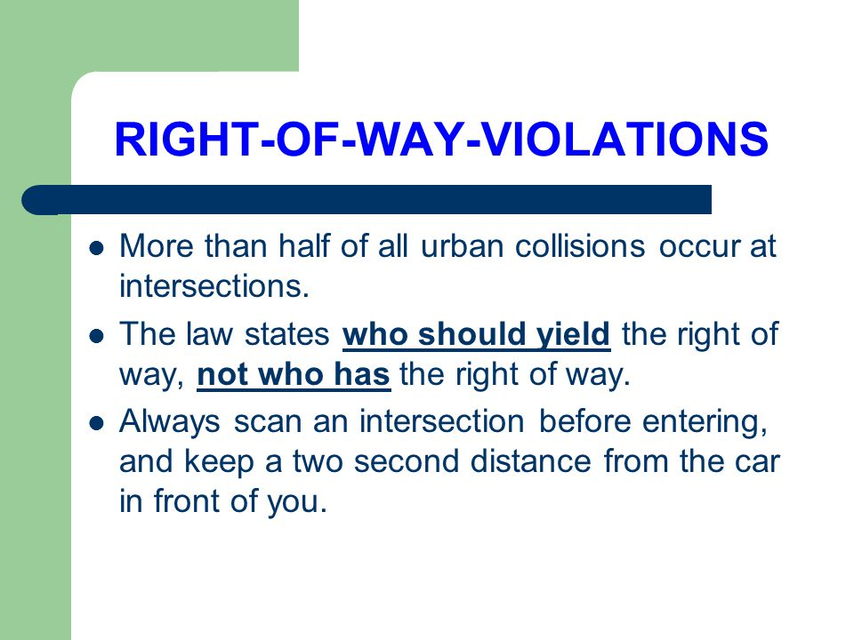 RIGHT-OF-WAY-VIOLATIONS