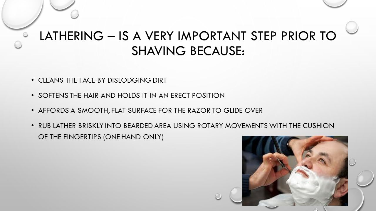Lathering – is a very important step prior to shaving because:
