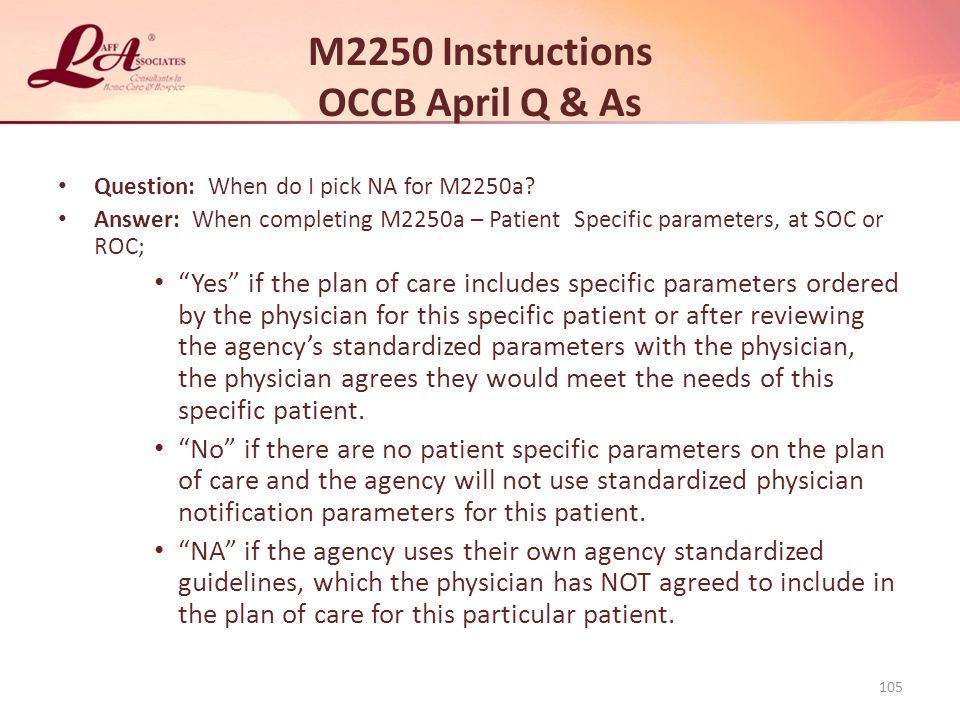 M2250 Instructions OCCB April Q & As