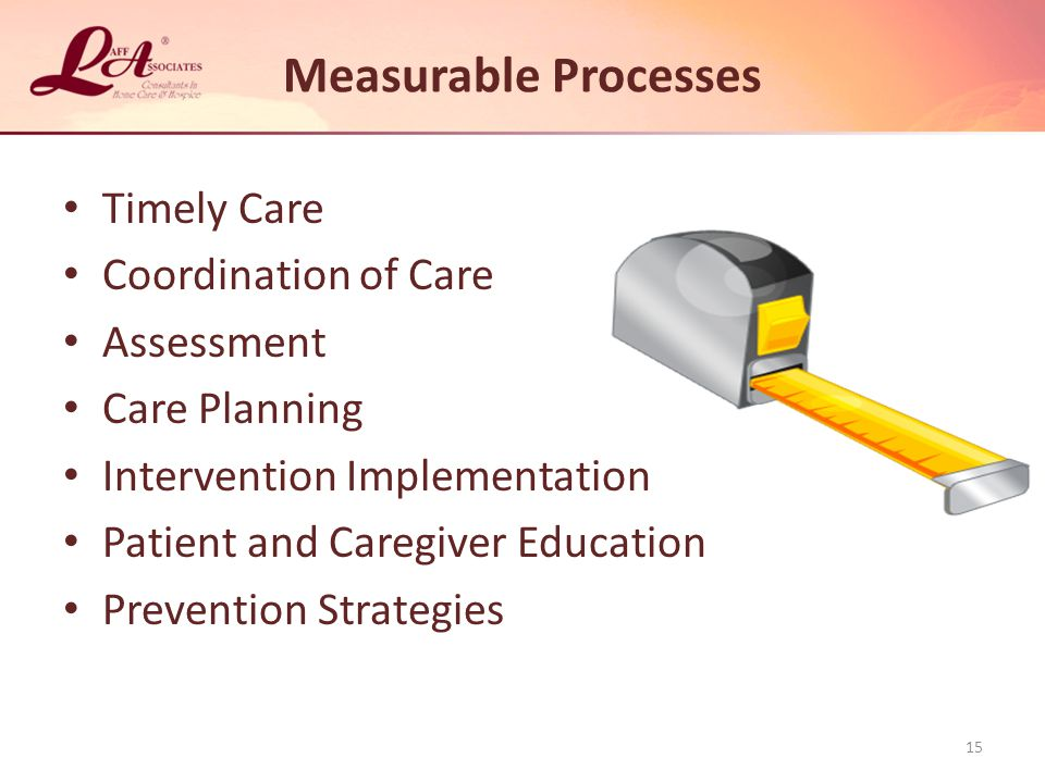 Measurable Processes Timely Care Coordination of Care Assessment