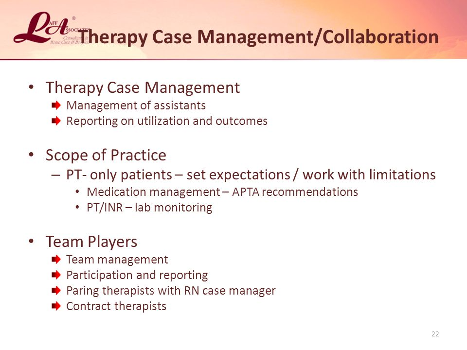 Therapy Case Management/Collaboration