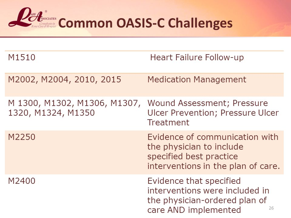 Common OASIS-C Challenges