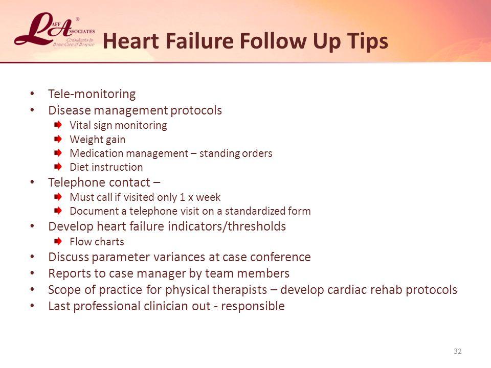 Heart Failure Follow Up Tips