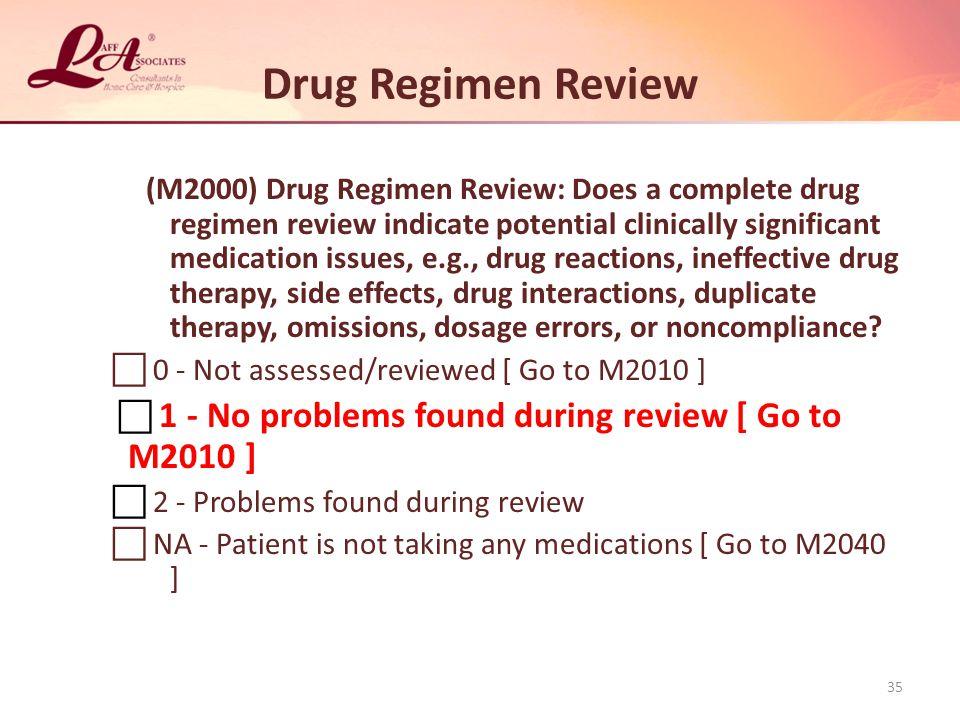 Drug Regimen Review