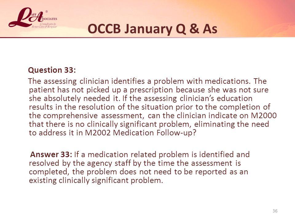 OCCB January Q & As