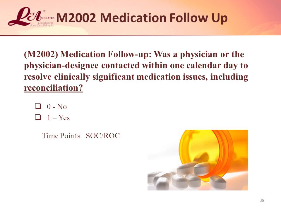 M2002 Medication Follow Up