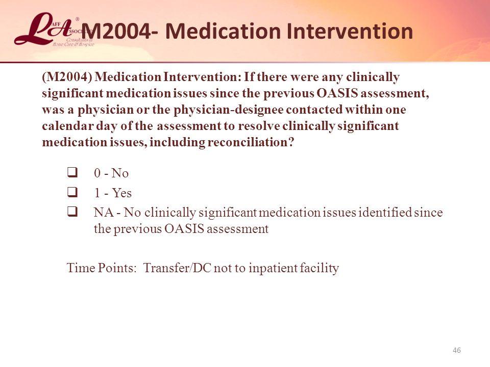 M2004- Medication Intervention