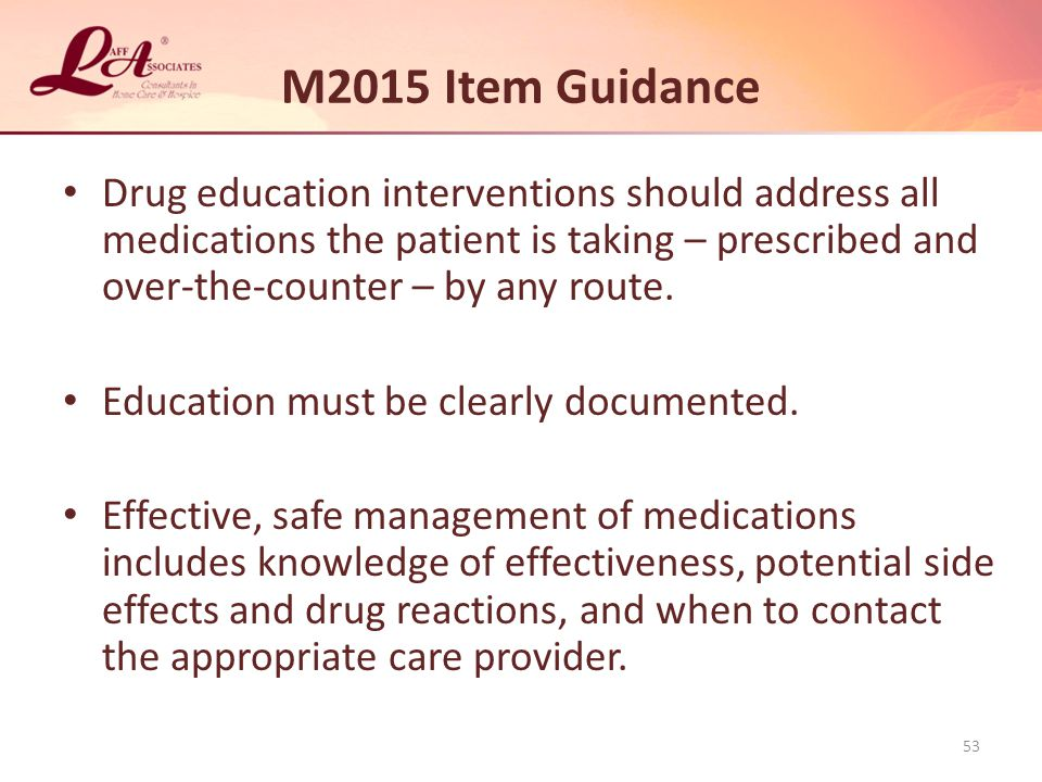 M2015 Item Guidance