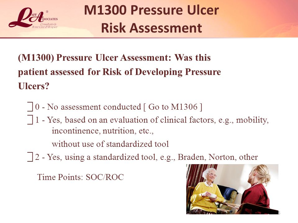 M1300 Pressure Ulcer Risk Assessment