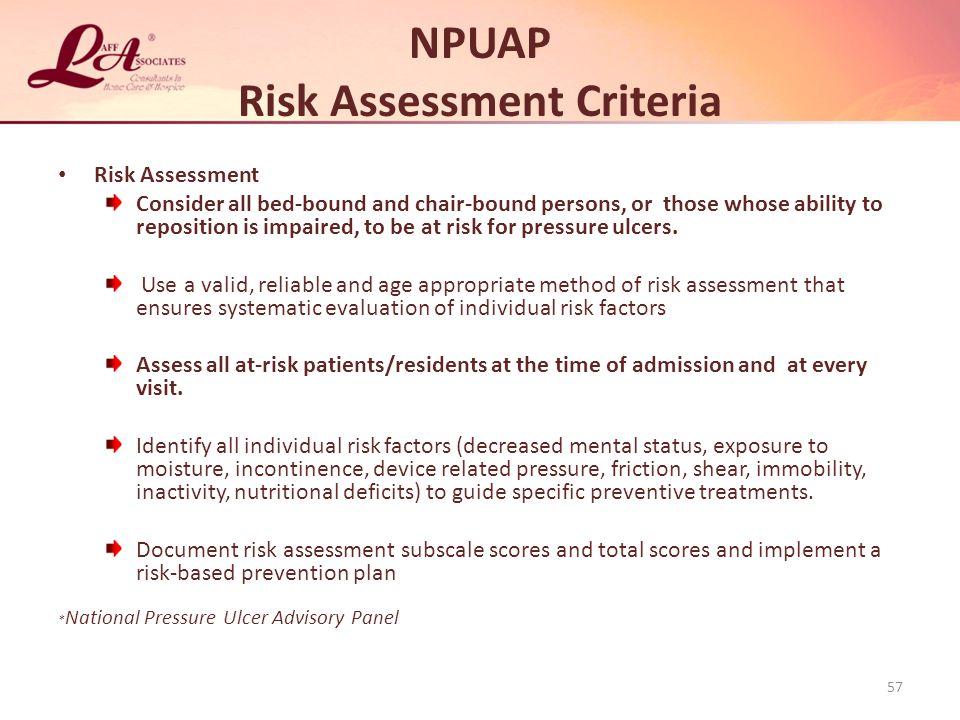 NPUAP Risk Assessment Criteria