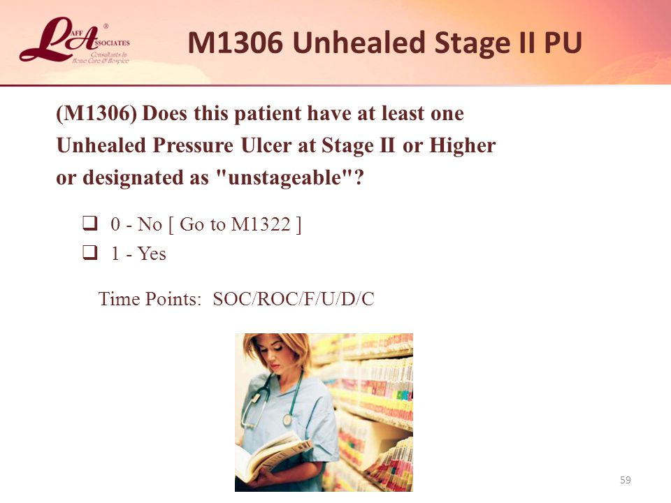 M1306 Unhealed Stage II PU (M1306) Does this patient have at least one