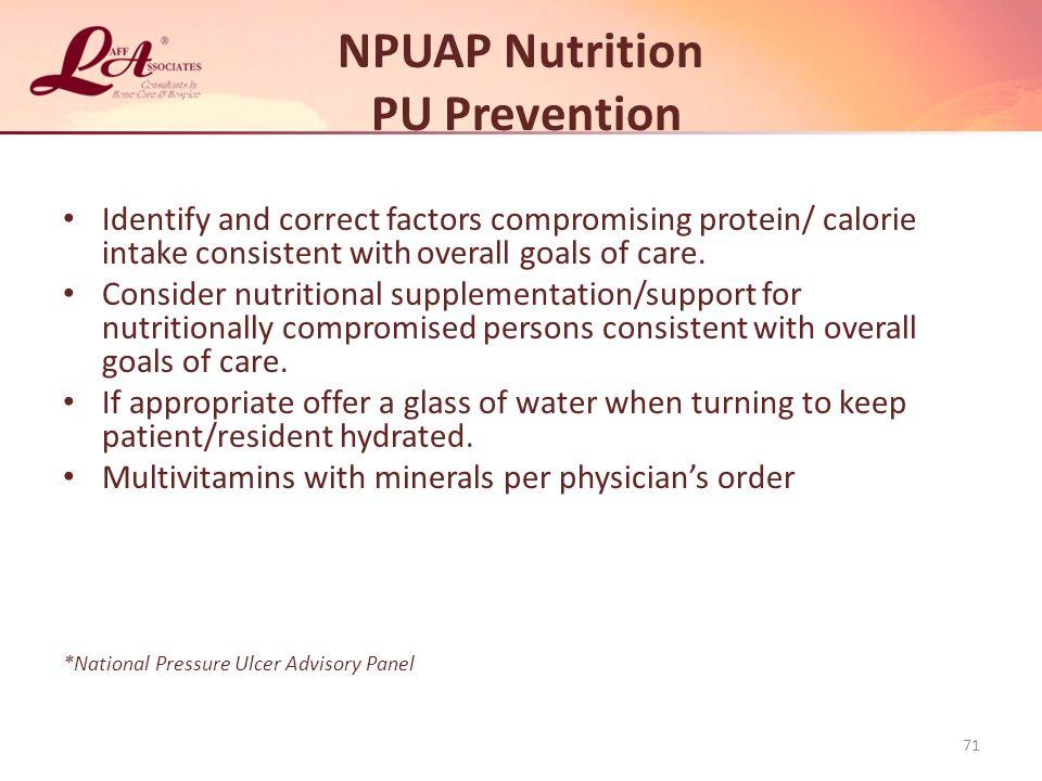 NPUAP Nutrition PU Prevention