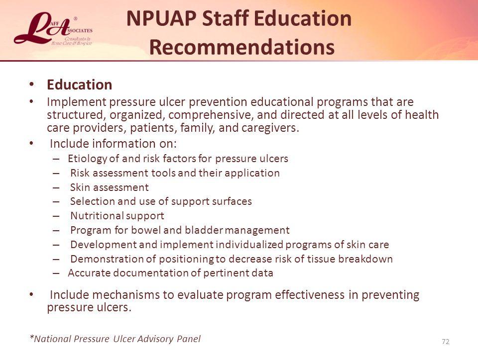 NPUAP Staff Education Recommendations