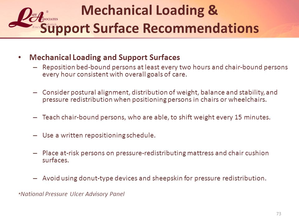 Mechanical Loading & Support Surface Recommendations
