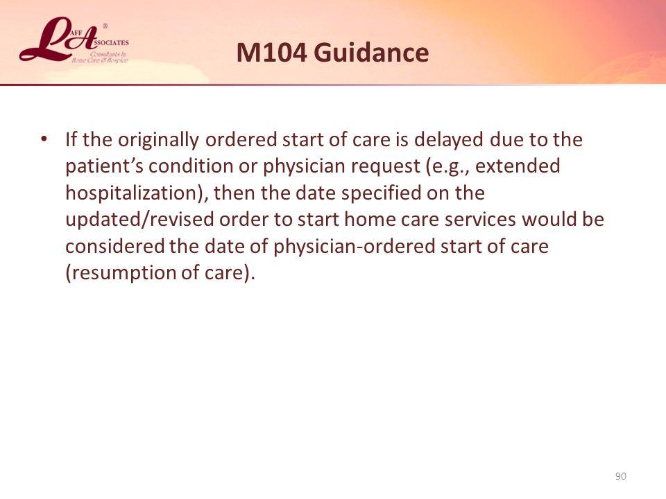 M104 Guidance