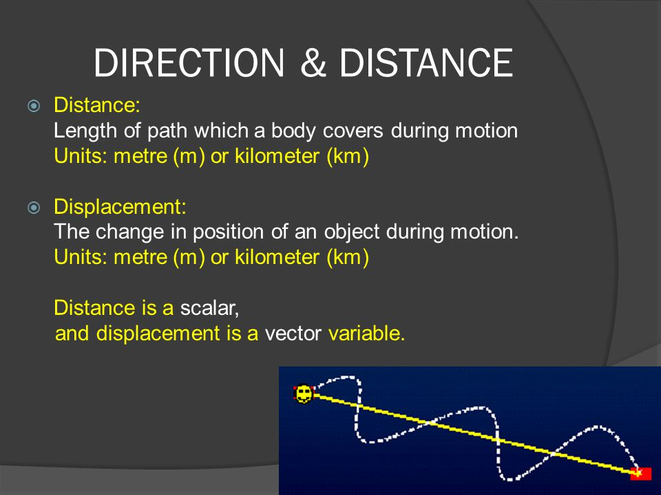 DIRECTION & DISTANCE Distance: