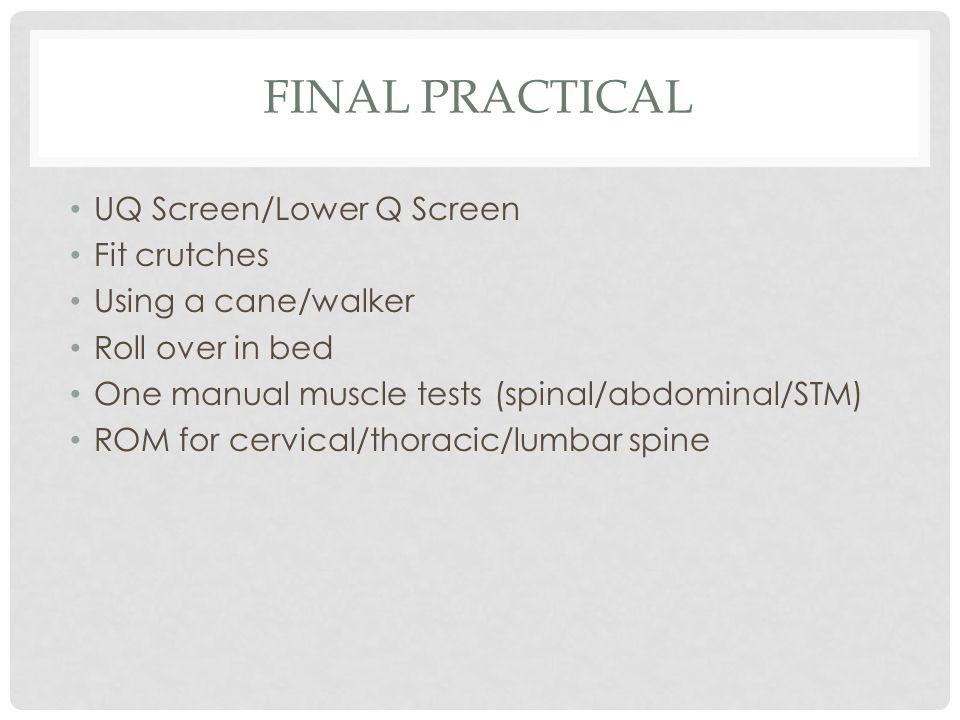 Final practical UQ Screen/Lower Q Screen Fit crutches