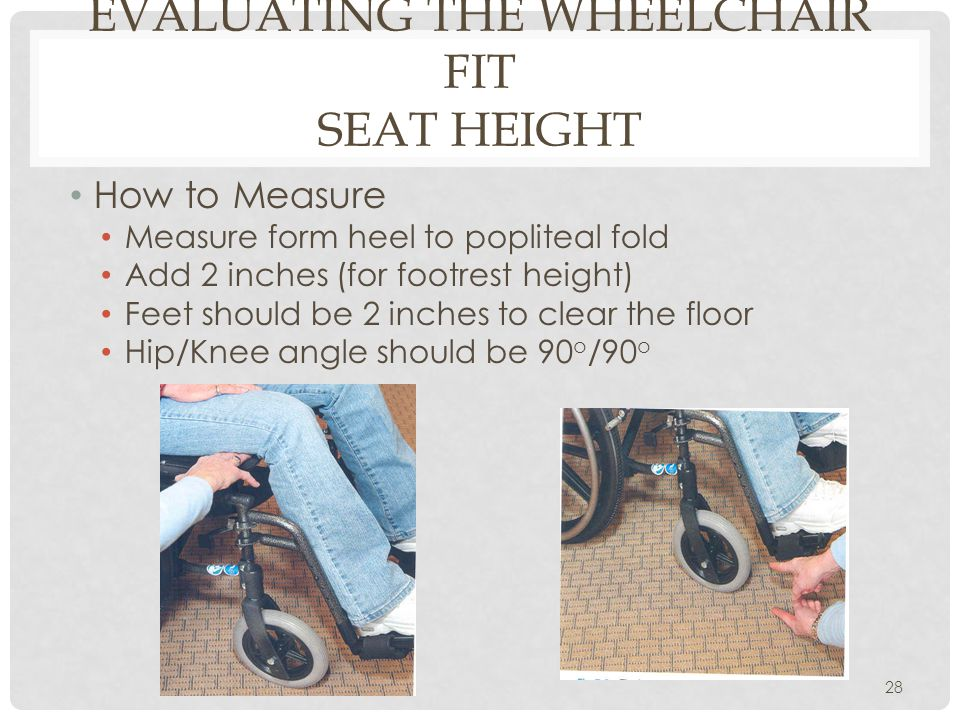 Evaluating the Wheelchair Fit Seat Height