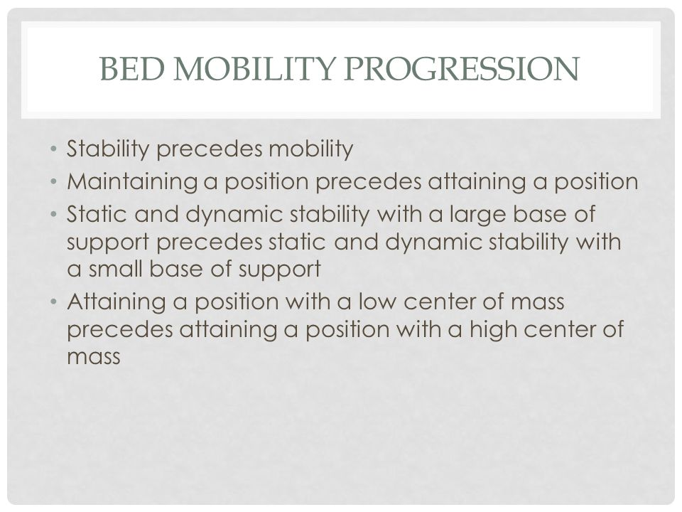Bed Mobility Progression