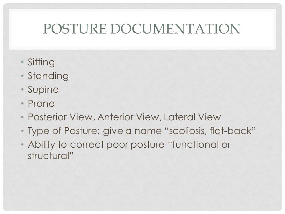 Posture Documentation