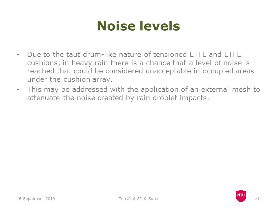 Noise levels