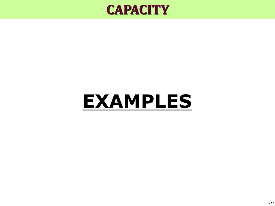 CAPACITY EXAMPLES 5-32