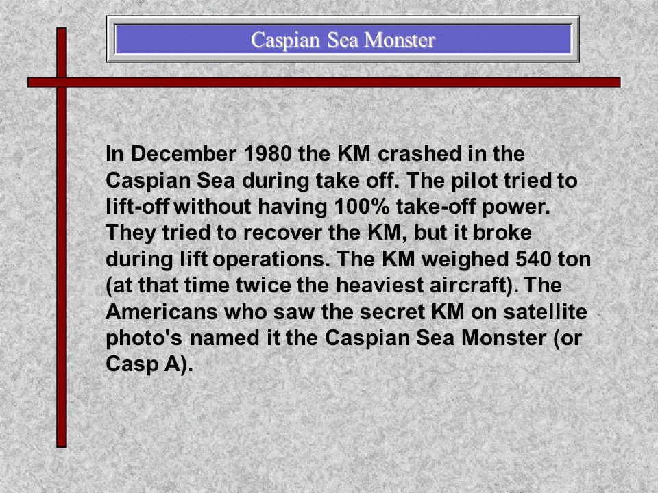 Caspian Sea Monster