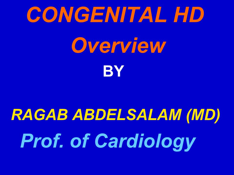 CONGENITAL HD Overview