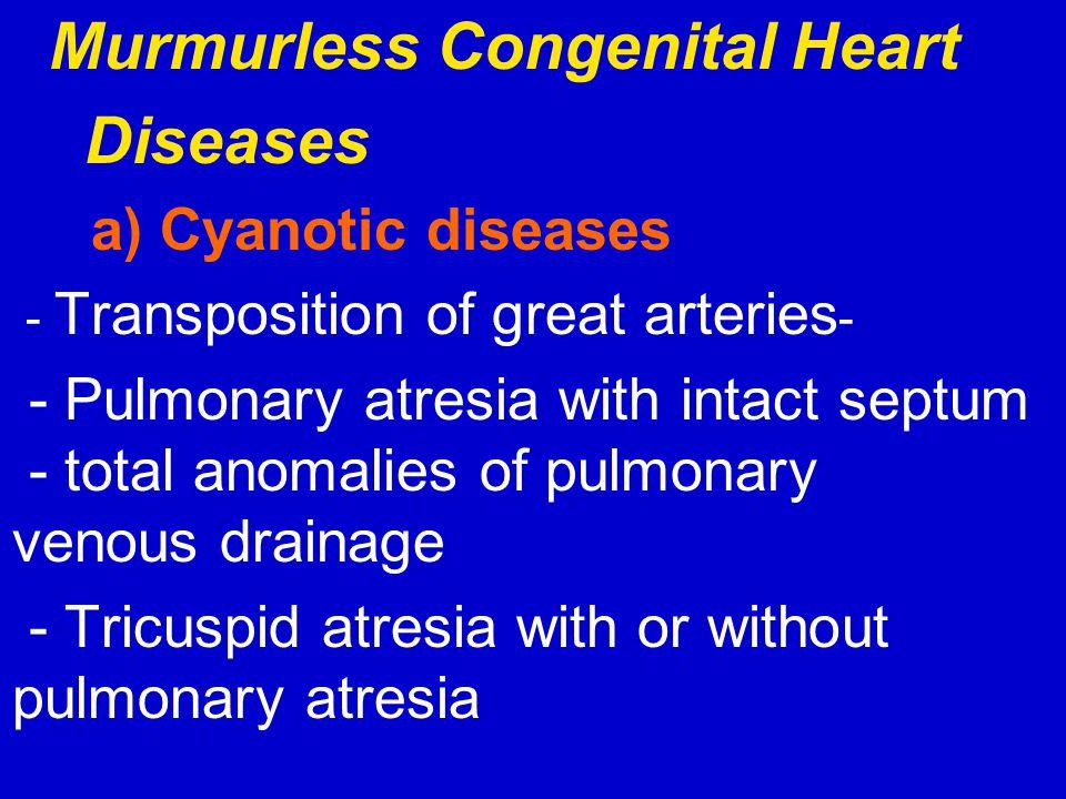 Murmurless Congenital Heart Diseases