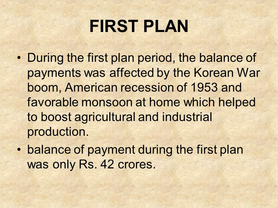 FIRST PLAN