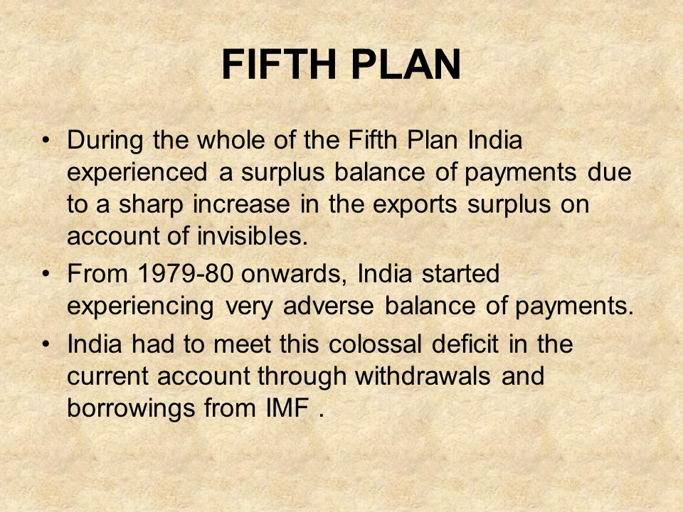 FIFTH PLAN