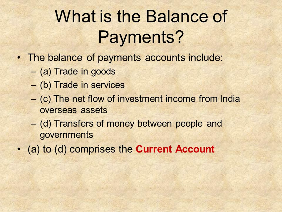 What is the Balance of Payments