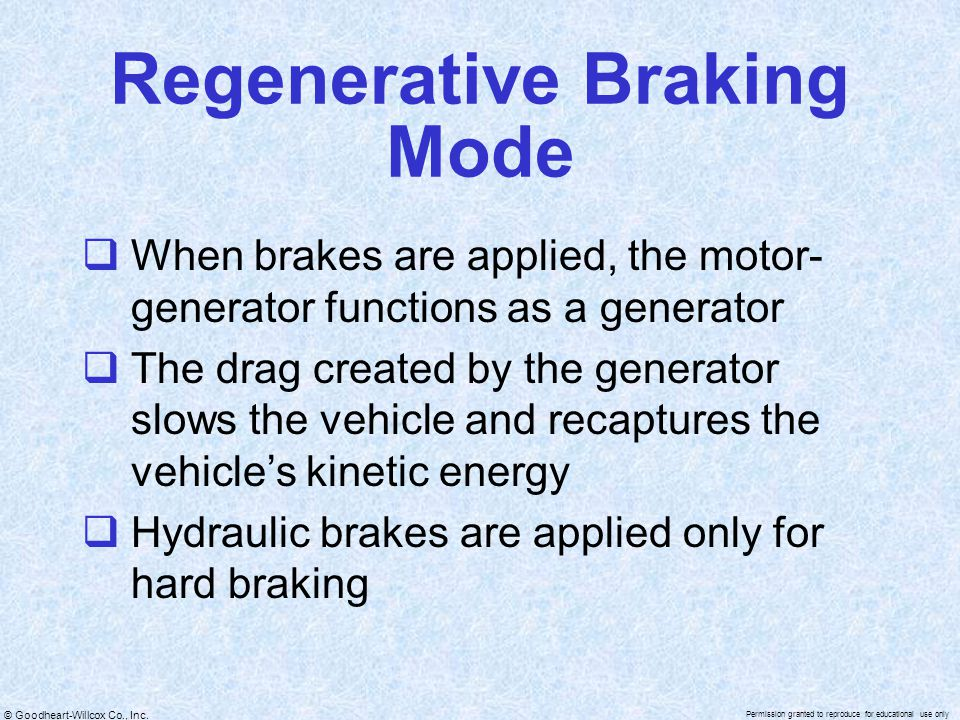 Regenerative Braking Mode