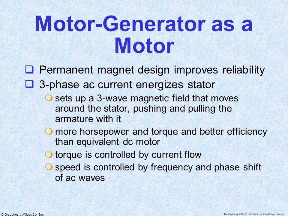 Motor-Generator as a Motor