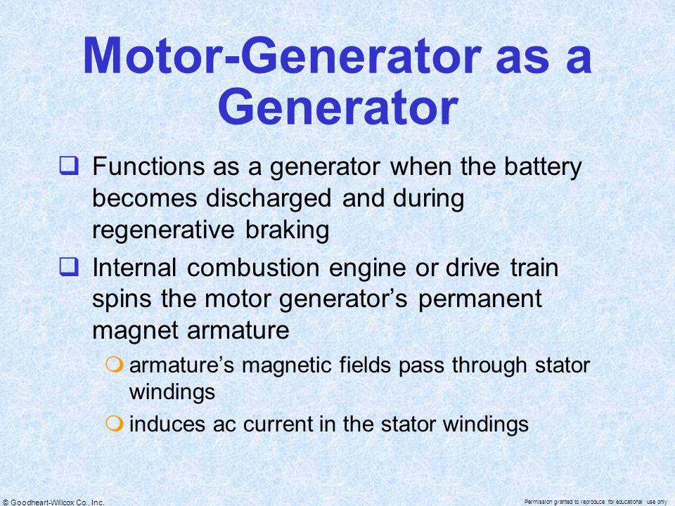 Motor-Generator as a Generator