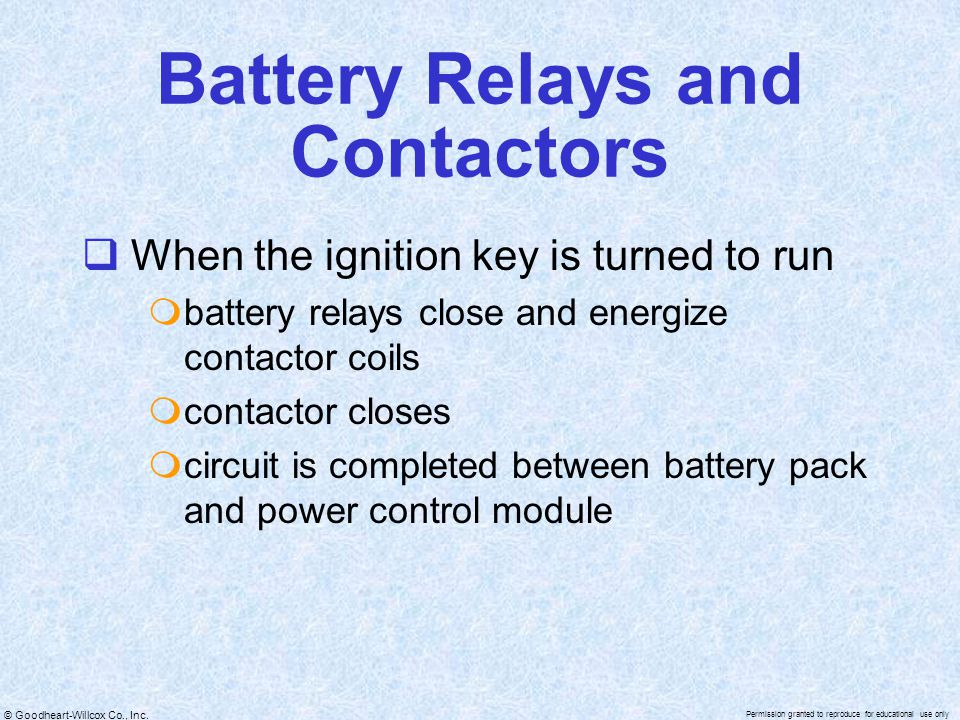 Battery Relays and Contactors